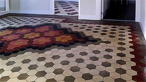 Restauración de mosaico, suelos atiguos, pulido de suelos hidraulicos